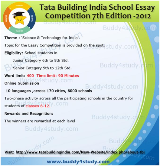 tata building school essay competition th edition