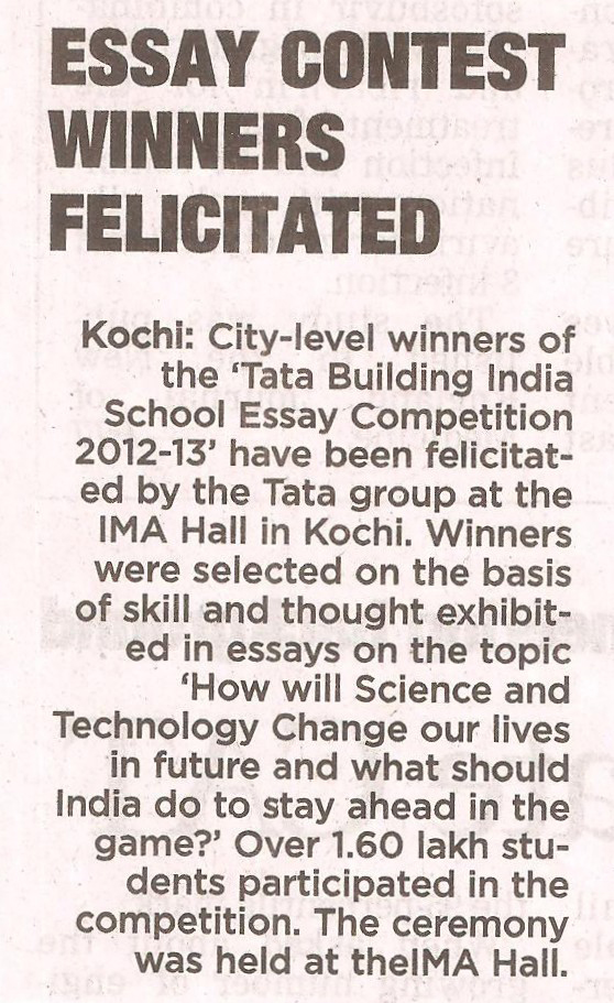 tata building india essay competition 2012 Candidates should send their essay to concerninfo2012  essay writing  competition – tata building india  essay writing competition.